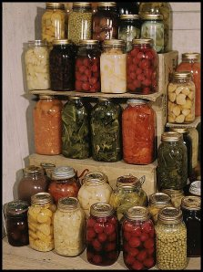 home canning stash